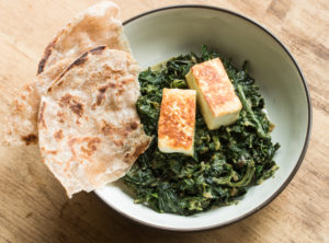 Saag paneer with foraged amaranth recipe