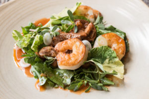 Seafood salad with arugula and marinated milkcap or lactifluus mushrooms (11)
