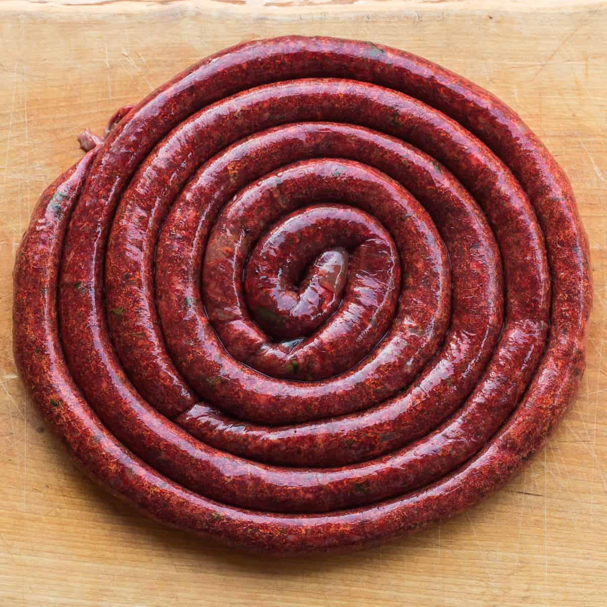 Wild rice lamb blood sausage recipe