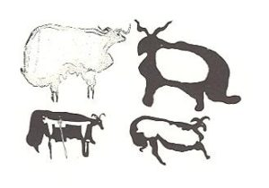fat tailed sheep rock engravings from central arabia--early or first millenium BC. source Anati 1968