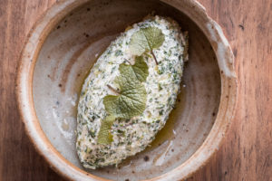 Garlic mustard ricotta cheese recipe