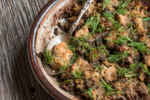 Gyromitra korfii or false morel gratinee recipe