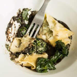 Shaggy mane mushroom ink sauce with pasta recipe