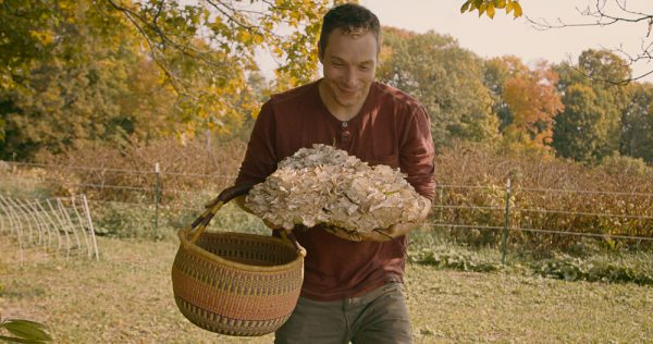 Chef Alan Bergo with Hen of the Woods Mushroom Image by Jesse Roesler